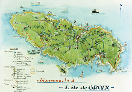 Ile de groix carte g ographique my blog for Carte de france des hotels formule 1
